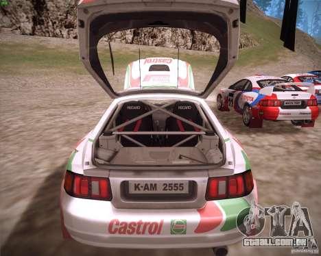 Toyota Celica ST-205 GT-Four Rally para GTA San Andreas vista traseira