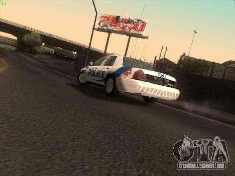 Ford Crown Victoria Vancouver Police para GTA San Andreas vista interior