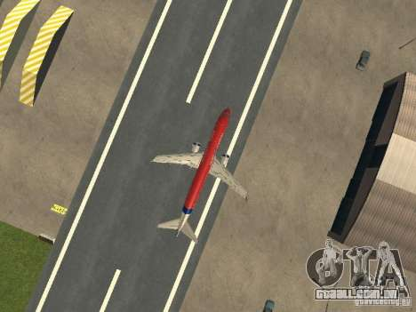 Embraer ERJ 190 Virgin Blue para GTA San Andreas vista traseira