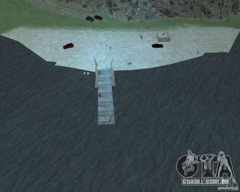 A animada Praia de Palomino Creek para GTA San Andreas terceira tela
