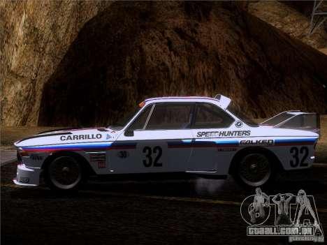 BMW CSL GR4 para GTA San Andreas vista superior