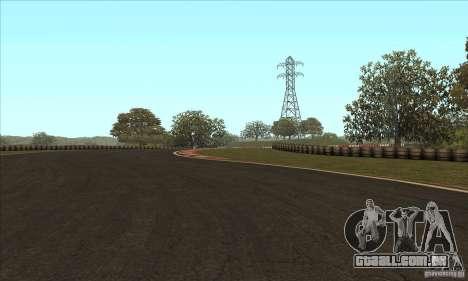 Faixa GOKART rota 2 para GTA San Andreas sexta tela