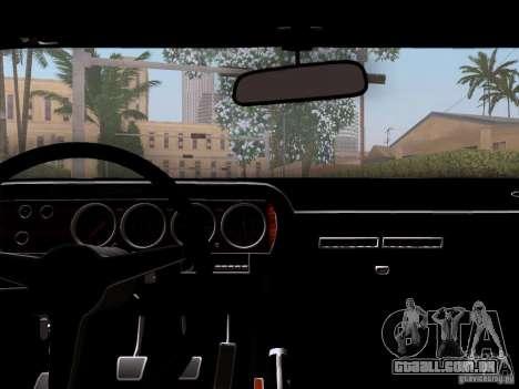 Dodge Challenger HEMI para GTA San Andreas vista traseira