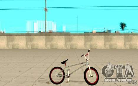 REAL Street BMX mod Chrome Edition para GTA San Andreas esquerda vista