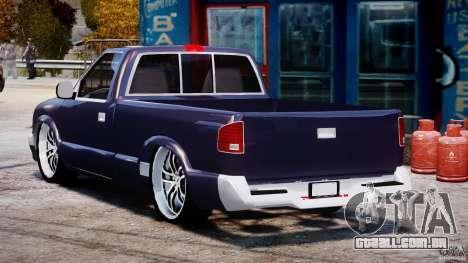Chevrolet S10 1996 Draggin [Beta] para GTA 4 traseira esquerda vista