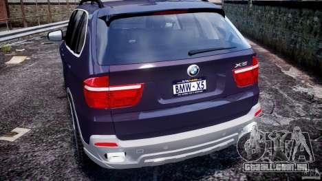 BMW X5 xDrive 4.8i 2009 v1.1 para GTA 4 vista inferior