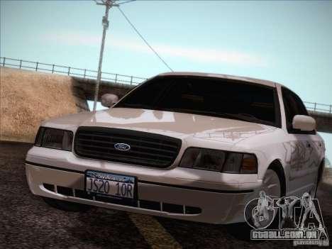 Ford Crown Victoria Interceptor para GTA San Andreas vista interior