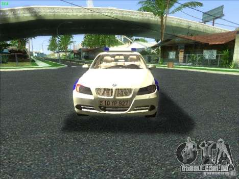 BMW 330i YPX para GTA San Andreas vista superior