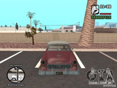 1955 Chevy Belair Sports Coupe para GTA San Andreas vista direita