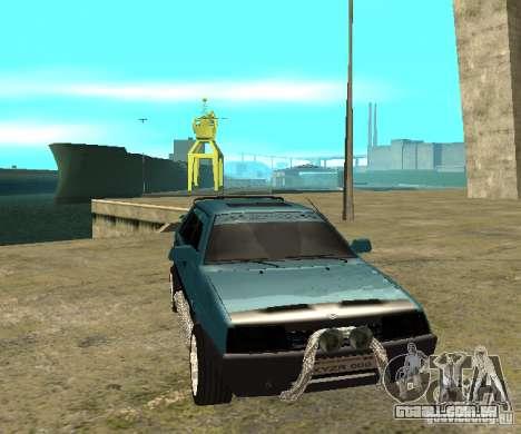 Melodia de sparco 21099 VAZ para GTA San Andreas traseira esquerda vista