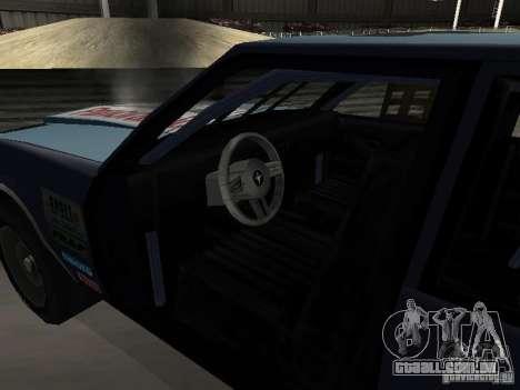GreenWood Racer para GTA San Andreas vista interior