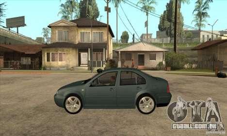 Volkswagen Bora-Golf para GTA San Andreas esquerda vista