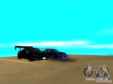 Lexus SC430 Daigo Saito v2 para GTA San Andreas vista traseira