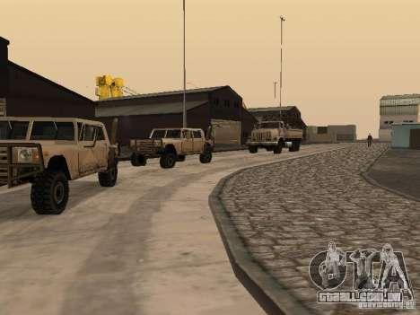 A base militar revivida em docas v 3.0 para GTA San Andreas