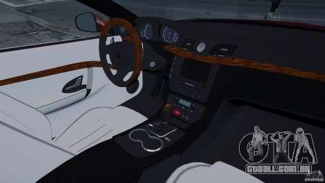 Maserati Gran Turismo 2008 Beta para GTA 4 vista interior