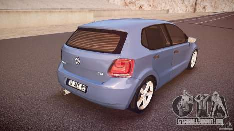 Volkswagen Polo 2011 para GTA 4 vista superior