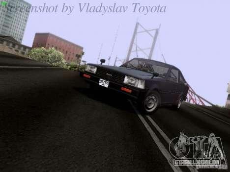 Toyota Corolla TE71 Coupe para GTA San Andreas esquerda vista