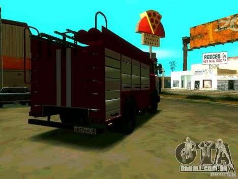 MAZ 533702 AC-2, 5-40 para GTA San Andreas traseira esquerda vista
