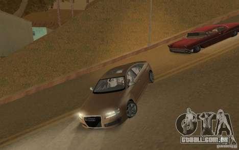 Audi RS6 TT Black Revel para GTA San Andreas esquerda vista