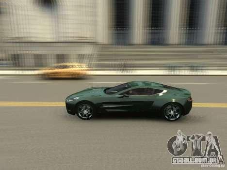 Aston Martin One 77 2012 para GTA 4 vista interior