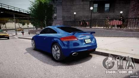 Audi TT RS Coupe v1 para GTA 4 vista lateral