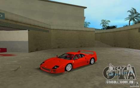 Ferrari F40 para GTA Vice City deixou vista