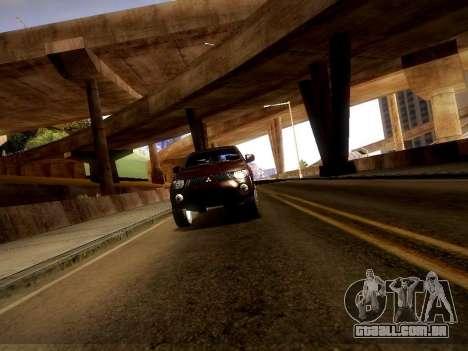 Mitsubishi L200 Stock para GTA San Andreas vista traseira