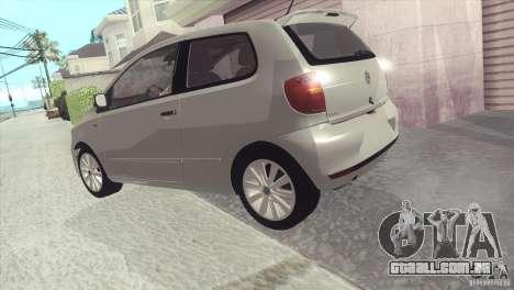 Volkswagen Fox 2013 para GTA San Andreas vista direita