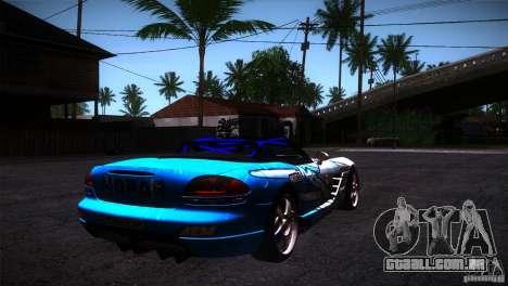 Dodge Viper Mopar Drift para GTA San Andreas vista direita