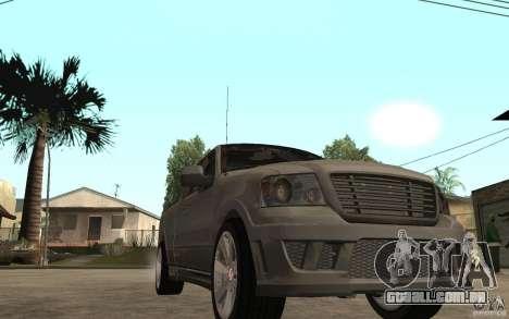 Saleen S331 Super Cab para GTA San Andreas vista traseira