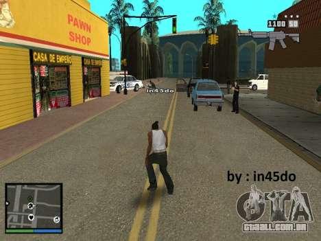 GTA V Interface for Samp para GTA San Andreas terceira tela