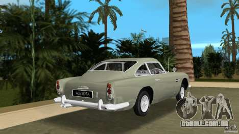 Aston Martin DB5 63-54 (JAMES BOND) para GTA Vice City vista traseira esquerda