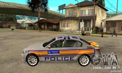 Metropolitan Police BMW 5 Series Saloon para GTA San Andreas esquerda vista