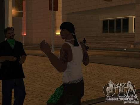 Substituir todos os skins Grove Street famílias para GTA San Andreas sétima tela