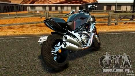 Ducati Diavel Carbon 2011 para GTA 4 traseira esquerda vista