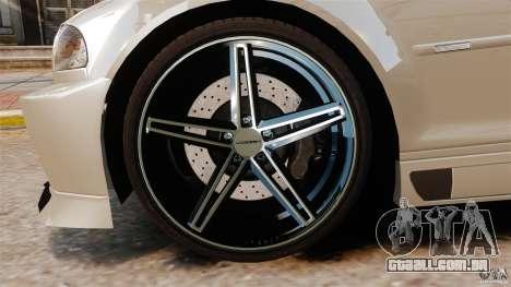 BMW M3 E46 para GTA 4 vista de volta