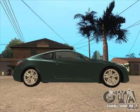 Hyundai Genesis Coupe para GTA San Andreas esquerda vista
