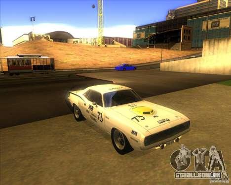 Plymouth Hemi Cuda para GTA San Andreas vista traseira