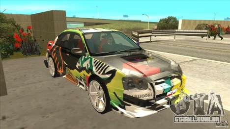 Subaru Impreza 2005 Mission Edition para GTA San Andreas vista traseira