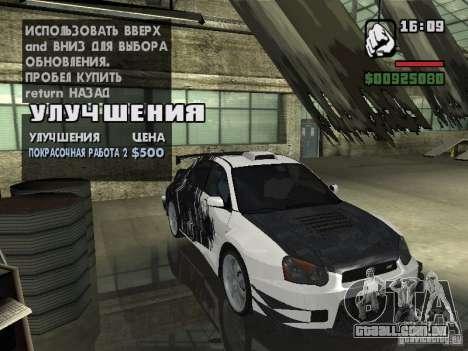 Subaru Impreza Wrx Sti 2002 para GTA San Andreas esquerda vista