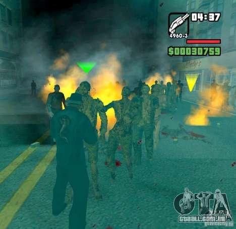 Zombie Alarm para GTA San Andreas segunda tela