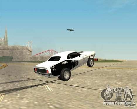 Plymouth Hemi Cuda Rogue para GTA San Andreas vista traseira