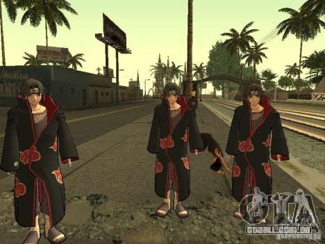 The Akatsuki gang para GTA San Andreas terceira tela