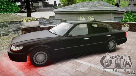 Washington FBI Car para GTA 4 vista interior