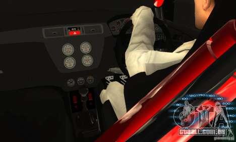 Mitsubishi Lancer IX APR para GTA San Andreas vista traseira