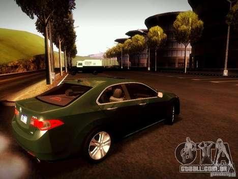Acura TSX para GTA San Andreas esquerda vista
