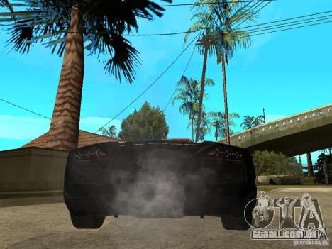 Lamborghini Reventon The Speed Enforcer para GTA San Andreas traseira esquerda vista