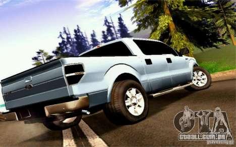 Ford Lobo 2012 para GTA San Andreas esquerda vista