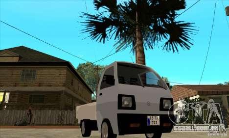 Suzuki Carry Kamyonet para GTA San Andreas vista traseira