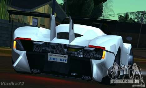 Pagani Zonda EX-R para GTA San Andreas esquerda vista